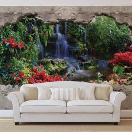 Fotobehang Doorkijk naar Waterval
