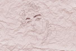Fotowand Paper face 1 by Atelier 47 afm. 400cm x 270cm hoog