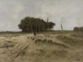 Fotobehang Heide bij Laren Anton Mauve