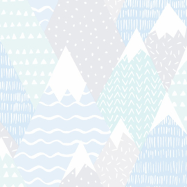 Over the Rainbow 91052 Mountains Teal