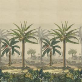 Designers Guild PJD6008/01 Palm Trail Scene 2 Sepia 140cm x 300cm hoog