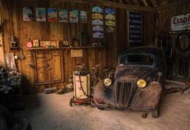 Fotobehang Vintage Car Dusty
