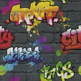 Behang Rasch Kids & Teens || 237801 Graffiti