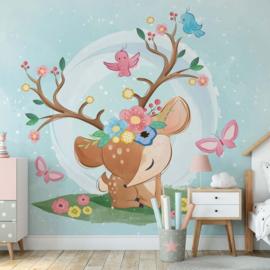 Fotobehang Sadie the Deer Princess