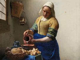 Canvasdoek Het melkmeisje, Johannes Vermeer, ca. 1660