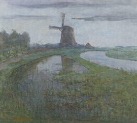 Dutch Painted Memories 8033 Mill in the moonlight Piet Mondriaan