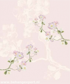 Behang Eijffinger Un Bisou 365115 Fleurs de Printemps rose