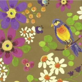 Behang Eijffinger Rice 359071 bloemen en vogels