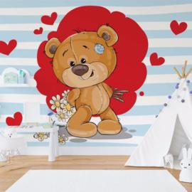 Fotobehang The Big Heart Bears: Bradley has Flowers