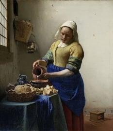 Fotobehang Het Melkmeisje Johannes Vermeer