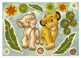 Wandsticker Simba & Nala 14040