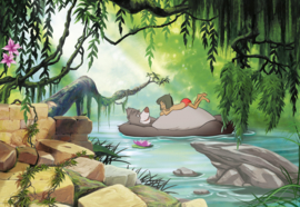 Komar fotobehang 8-4106 Junglebook Swimming With Baloo
