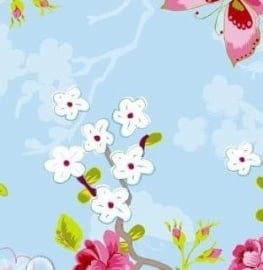 Eijffinger Pip Studio behang  386031 Chinese Rose Blauw