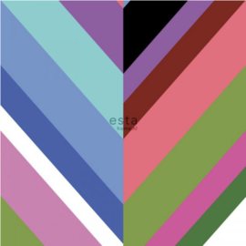 Esta photowallXL  158912 Colorful herringbone