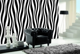 Dutch DigiWalls Due - art. 2044 Zebra B / W