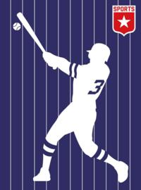 Fotowand Baseball by Bo Lundberg afm. 200cm x 270cm hoog
