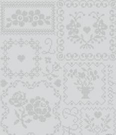 Eijffinger Pip Studio behang  386004 Cross Stitch Grijs