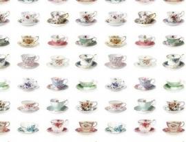 Wallpaper XXL Esta Home Pretty Nostalgic 158111 cup and saucers