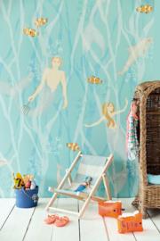 Eijffinger Wallpower Junior 364150 Mermaids Azur