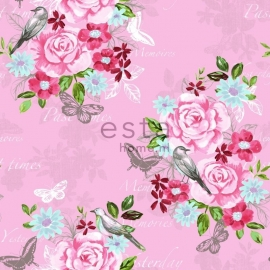 Behang Esta Home Pretty Nostalgic 138120 bloemen