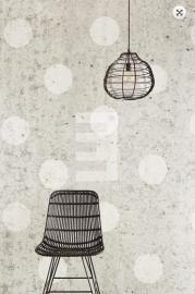 Fotobehang Eijffinger Black & Light 356214 Concrete Dots