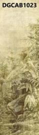 Khrôma Cabinet of Curiosities DGCAB1023 afm. 127cm x 300cm hoog Wander Leaf