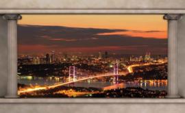 Fotobehang Doorkijk Istanbul Skyline Pilaren