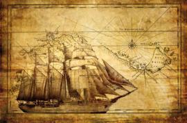 Fotobehang Vintage Zeilschip