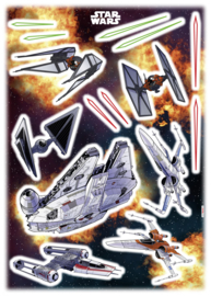 Wandsticker Starwars Spaceships 14022