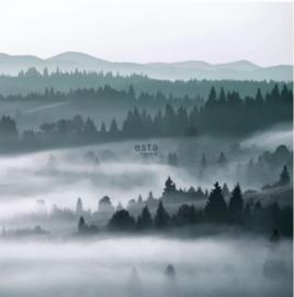 Esta photowallXL 158910 foggy mountains