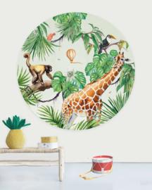 Creative Label behangcirkel Monkey Jungle 145cm