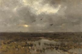 Fotobehang Het moeras - Anton Mauve