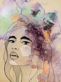 Fotowand Lady 2 by Sabrina Ziegenhorn afm. 200cm x 270cm hoog