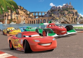 Fotobehang AG Design FTD2221 Cars 2 Race