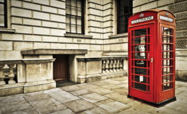 Fotobehang Telephone Box London