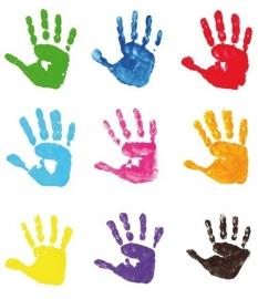 Little Ones fotobehang 415014 Hand Prints