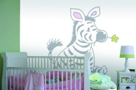 Sweet Collection by Monica Maas - Sitting Zebra in Light Grey art. 5065