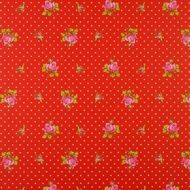 Eijffinger Pip Studio behang  386023 Roses and Dots Rood