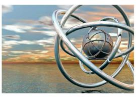 Fotobehang Abstracte ringen