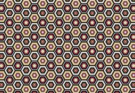 Fotobehang Hexagonaal patroon