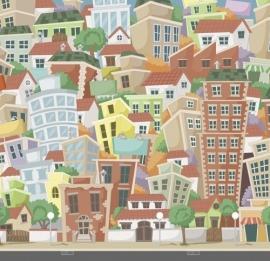 Dutch Digiwalls Fotobehang - Olly art. 13066 City Life