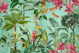Fotowand Tropical paradise 1 by Andrea Haase afm. 400cm x 270cm hoog