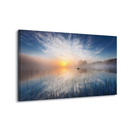 Canvasdoek Zonsondergang