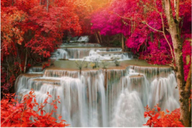 Fotobehang Waterval in Regenwoud