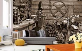 Fotobehang Vintage garage