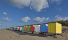 Fotobehang Holland 5444 - Strandhuisjes