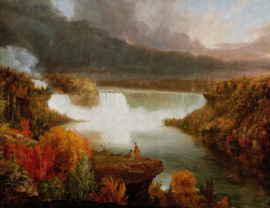 Dutch Painted Memories 8079 Distant view of niagara falls