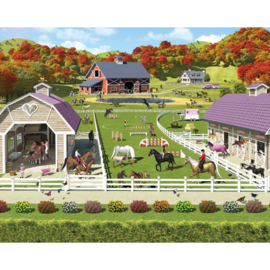 Walltastic posterbehang 41738 Horse and Pony Stables