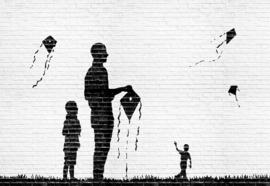 Fotobehang Graffiti Black and White