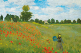 Fotobehang Idealdecor 00677 Champ de Coquelicots á Argenteuil by Claude Monet
